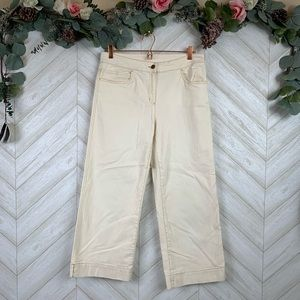 Eileen Fisher Cream Colored Pants Size Small